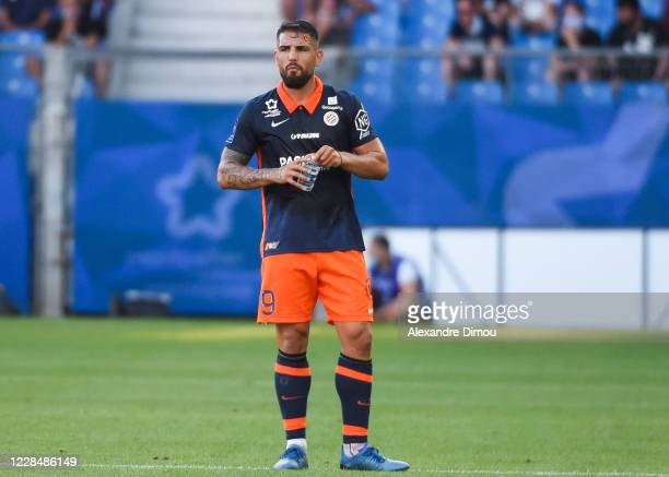 Andy DELORT of Montpellier during the Ligue 1 match between Montpellier and Nice on September 12, 2020 in Montpellier, France.