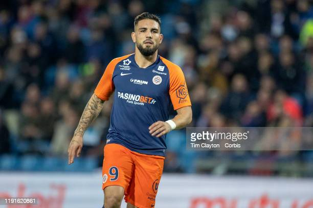 Andy Delort of Montpellier during the Montpellier Vs SC Amiens French Ligue 1 regular season match at Stade de la Mosson on November 30th 2019 in...