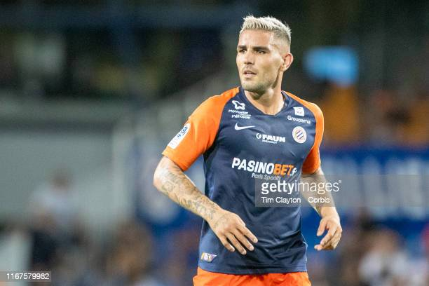 Andy Delort of Montpellier during the Montpellier Vs Stade Rennes French Ligue 1 regular season match at Stade de la Mosson on August 10th 2019 in...