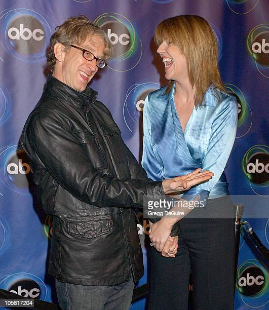 Andy Dick and Andrea Parker during 2006 ABC Network AllStar Party Arrivals and Inside at The Wind Tunnel in Pasadena California United States