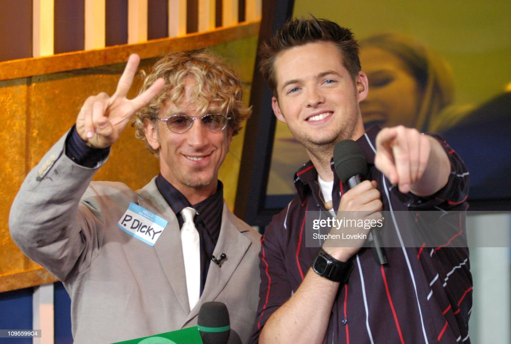 Andy Dick and Damien Fahey during Andy Dick, Ashanti, and FeFe Dobson Visit MTV's 'TRL' - July 12, 2004 at MTV Studios in New York City, New York, United States.