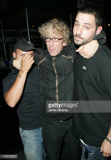 Andy Dick and friends during Andy Dick Parties at Suede August 10 2004 at Suede in New York City New York United States