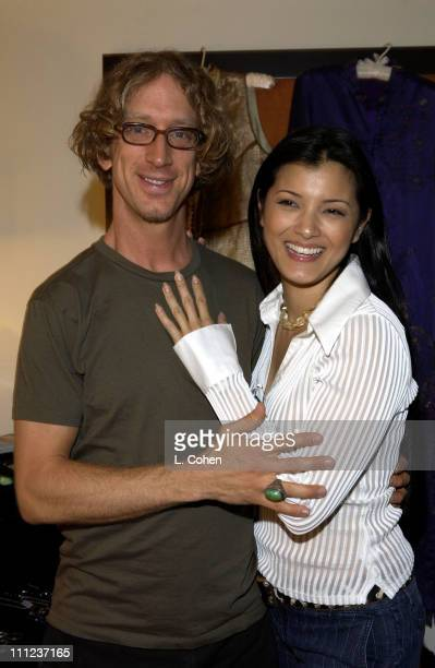 Andy Dick and Kelly Hu during Sunset Marquis Oasis Hosted by Peoples Revolution Day Two at Sunset Marquis in West Hollywood California United States