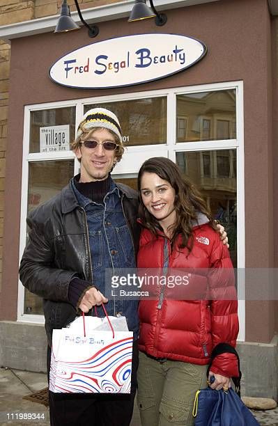 Andy Dick and Robin Tunney at The Fred Segal Beauty Spa at The Village at The Lift