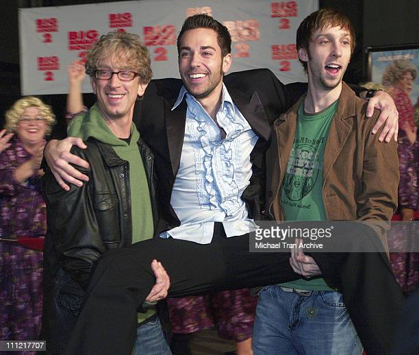 Andy Dick Zachary Levi and Joel Moore during 'Big Momma's House 2' Los Angeles Premiere Arrivals at Mann's Grauman Chinese Theatre in Hollywood...