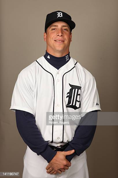 Andy Dirks of the Detroit Tigers poses during Photo Day on Tuesday February 28 2012 at Joker Marchant Stadium in Lakeland Florida