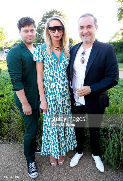 Andy Ede Noelle Reno and Nick Ede attend a dinner to celebrate the launch of St Mary's Children's Fund at Chucs Serpentine The Serpentine Sackler...