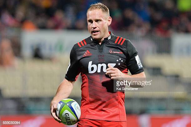 Andy Ellis of the Crusaders looks on during the round 13 Super Rugby match between the Crusaders and the Waratahs at AMI Stadium on May 20 2016 in...