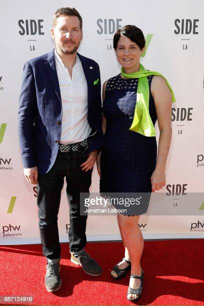 Andy Emery and Deborah Kirkham attend the SIDE LA Launch Party on March 23 2017 in Marina del Rey California