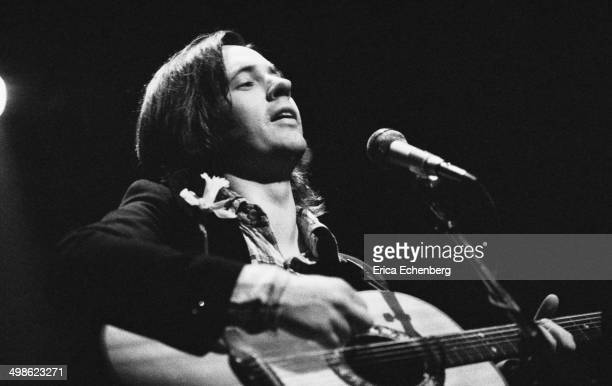 Andy Fairweather Low performs on stage at the New Victoria Theatre London 1976