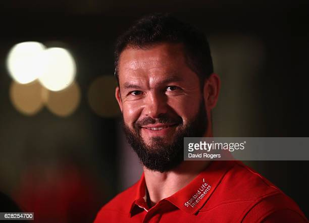 Andy Farrell the Lions defence coach faces the media during the 2017 British Irish Lions Coaching Team Announcement held at Carton House Hotel on...