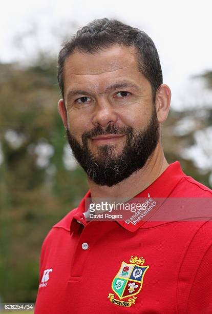 Andy Farrell the Lions defence coach poses for a portrait during the 2017 British Irish Lions Coaching Team Announcement held at Carton House Hotel...