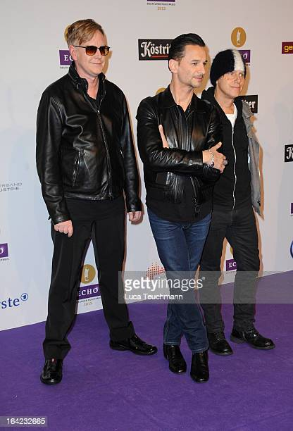 Andy Fletcher Dave Gahan and Martin Gore attend the Echo Award 2013 at Palais am Funkturm on March 21 2013 in Berlin Germany