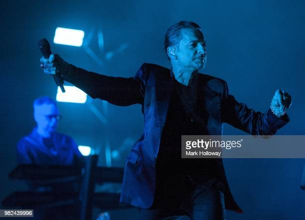 Andy FletcherDave Gahan of Depeche Mode performing on the main stage at Seaclose Park on June 23 2018 in Newport Isle of Wight