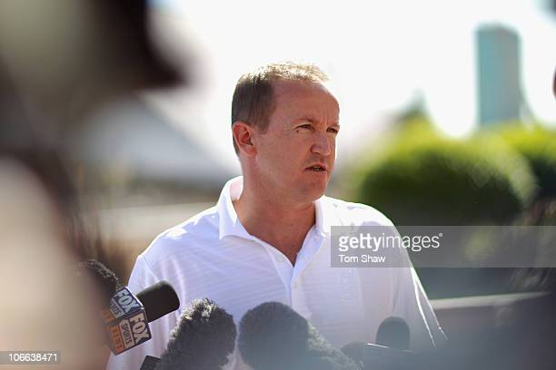 Andy Flower of England speaks to the media during a press conference at the Intercontinental Hotel on November 9 2010 in Adelaide Australia