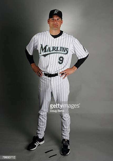 Andy Fox of the Florida Marlins during photo day at Roger Dean Stadium on February 22 2008 in Jupiter Florida