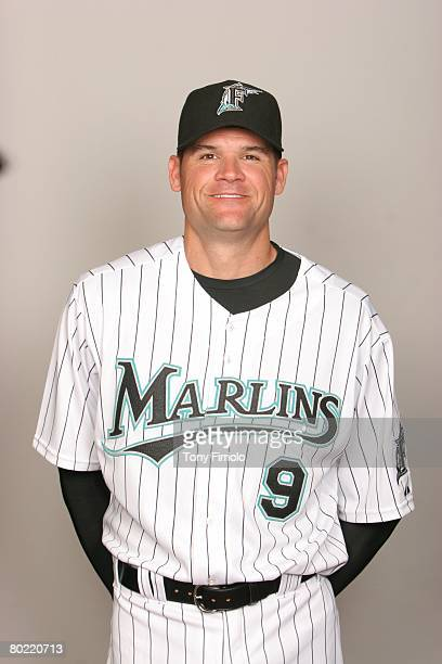Andy Fox of the Florida Marlins poses for a portrait during photo day at Roger Dean Stadium on February 22 2008 in Jupiter Florida