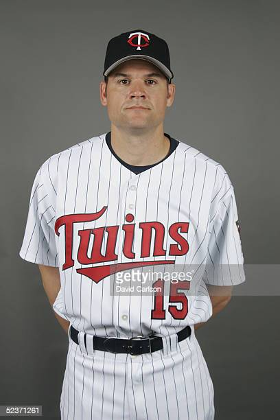 Andy Fox of the Minnesota Twins poses for a portrait during photo day at Hammond Stadium on February 28 2005 in Ft Myers Florida