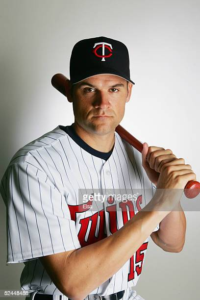 Andy Fox poses for a portrait during the Minnesota Twins Portrait Day on February 28 2005 at Hammond Stadium in Ft Myers Florida