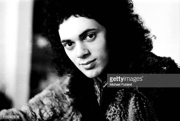 Andy Fraser formerly of Free during Andy Fraser Band era portrait London 24th February 1975