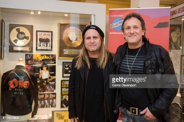 Andy Freeman and Vivian Campbell of Last in Line unveil their exhibition showcase at the Oh Yeah Music Centre before the NI Music Awards at Mandela...