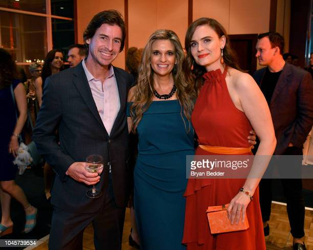 Andy Funk Kristi Funk and Emily Deschanel attend the 2018 Farm Sanctuary on the Hudson gala at Pier 60 on October 4 2018 in New York City
