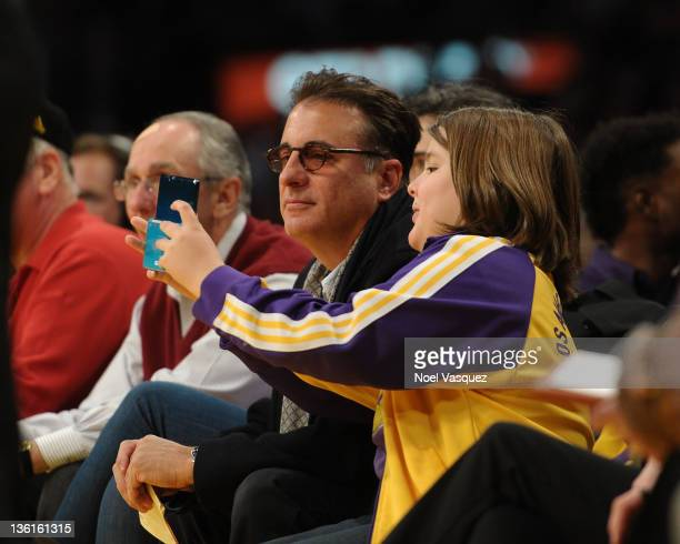 Andy Garcia and Andres GarciaLorido attend the Los Angeles Lakers vs Utah Jazz game on December 25 2011 in Los Angeles California