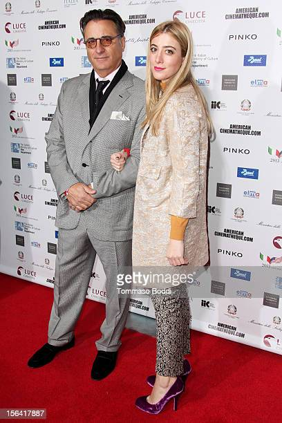 Andy Garcia and Daniella Garcia attend the 2012 Cinema Italian Style opening night gala of Caesar Must Die held at the American Cinematheque's...