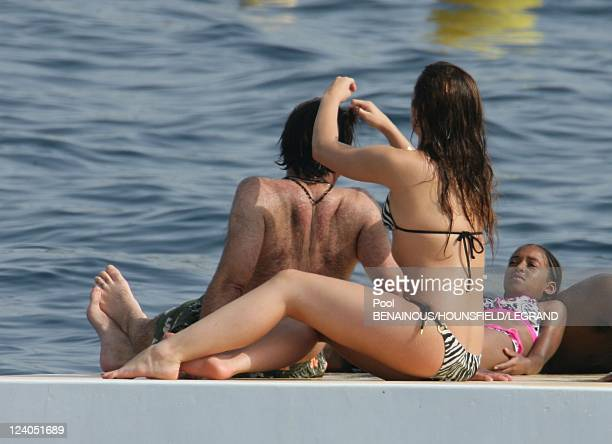 Andy Garcia and daughter at Eden Roc In Cannes France On May 22 2007