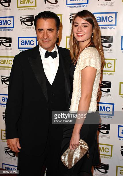 Andy Garcia and daughter Dominik during 20th Annual American Cinematheque Award Honoring Al Pacino Arrivals at Beverly Hilton Hotel in Beverly Hills...