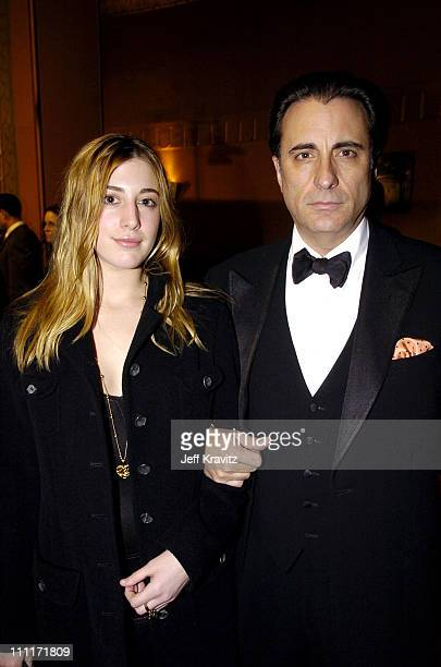 Andy Garcia and Daughter during 10th Annual Critics' Choice Awards Audience and Backstage at Wiltern LG Theater in Los Angeles California United...