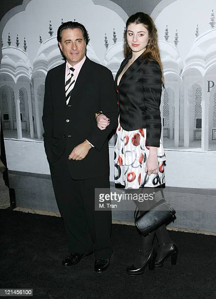 Andy Garcia and daughter during Giorgio Armani Celebrates 2007 Oscars with Exclusive Prive Show at Green Acres Estates in Beverly Hills California...