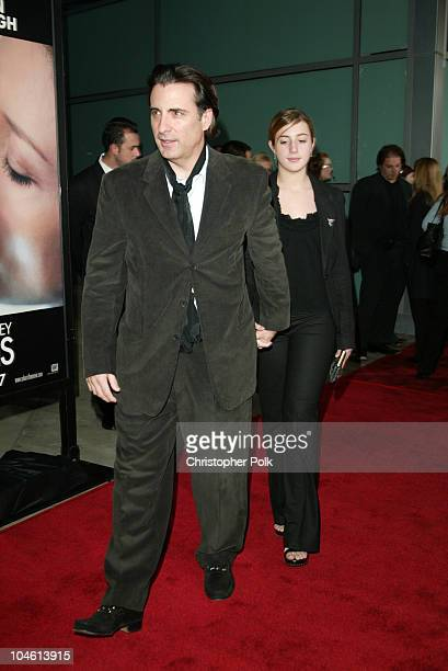 Andy Garcia and daughter during Premiere Screening of Solaris at Pacific Cinerama Dome in Hollywood California United States