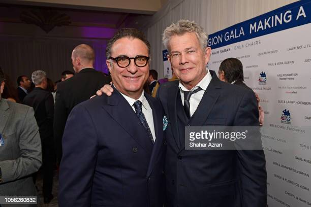 Andy Garcia and David Foster attend Friends of The Israel Defense Forces Western Region Gala at The Beverly Hilton Hotel on November 1 2018 in...