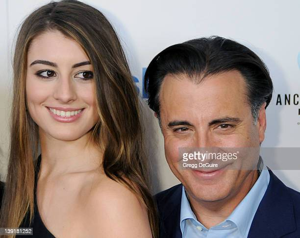 Andy Garcia and Dominik GarciaLorido arrive at the Los Angeles Premiere of City Island at The Landmark Theatre on March 15 2010 in Los Angeles...