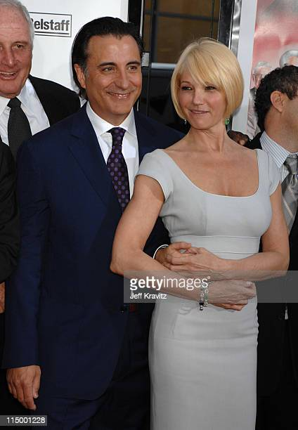 Andy Garcia and Ellen Barkin during Ocean's Thirteen Los Angeles Premiere Red Carpet at Grauman's Chinese Theater in Hollywood California United...