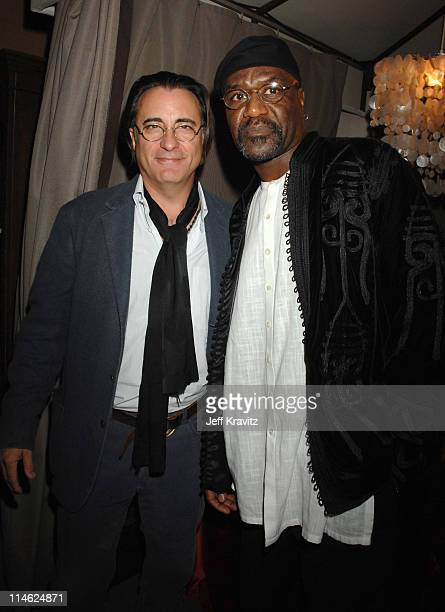 Andy Garcia and Exec Producer Delroy Lindo at the 'This Christmas' premiere after party at the Cinerama Dome on November 12 2007 in Hollywood...