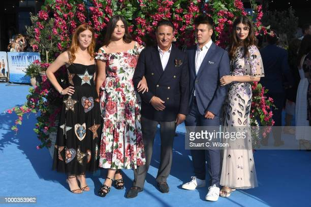 Andy Garcia and family attend the Mamma Mia Here We Go Again world premiere at the Eventim Apollo Hammersmith on July 16 2018 in London England