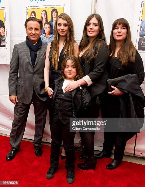 Andy Garcia and family attend the premiere of 'City Island' at The Directors Guild of America Theater on March 10 2010 in New York City