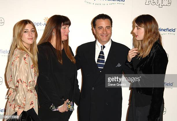 Andy Garcia and Family during Fifth Annual AdoptAMinefield Gala at Beverly Hilton Hotel in Beverly Hills California United States