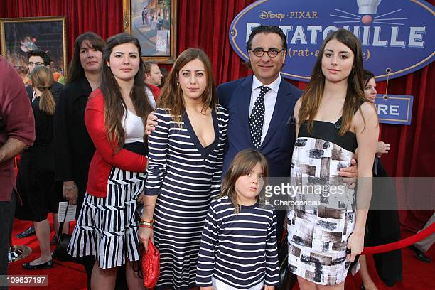 Andy Garcia and Family during The World Premiere of Disney/Pixar's 'Ratatouille' at Kodak Theater in Hollywood Calfornia United States