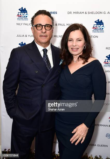 Andy Garcia and Fran Drescher attend Friends of The Israel Defense Forces Western Region Gala at The Beverly Hilton Hotel on November 1 2018 in...
