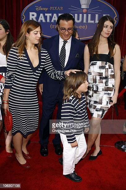Andy Garcia and his family during 'Ratatouille' Los Angeles Premiere Red Carpet at Kodak Theatre in Hollywood California United States