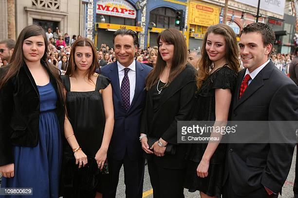 Andy Garcia and his family during Warner Bros Pictures Village Roadshow Pictures Jerry Weintraub and Section 8 Productions Host the North American...