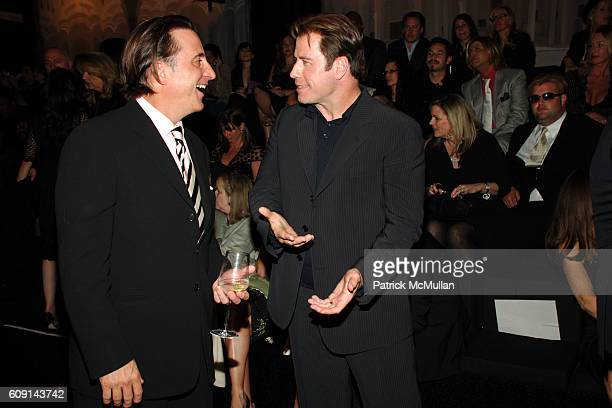 Andy Garcia and John Travolta attend GIORGIO ARMANI Prive in Los Angeles at Private Residence on February 24 2007 in Beverly Hills CA