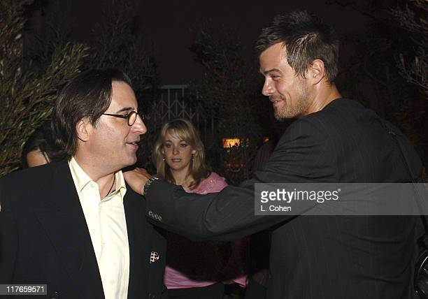 Andy Garcia and Josh Duhamel during Molly Sims Hosts the 3rd Annual 'Night with the Friends of El Faro' Benefit at Henry Fonda Theatre in Los Angeles...