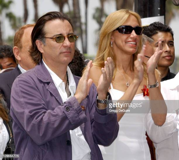 Andy Garcia and Lili Estefan during Emilio Estefan Honored With a Star on the Hollywood Walk of Fame for His Achievements in Music at Hollywood Blvd...