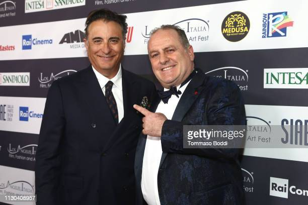 Andy Garcia and Pascal Vicedomini attend the 14th Annual Los Angeles Italia Film Fashion And Art Fest Opening Night Gala at TCL Chinese 6 Theatres on...