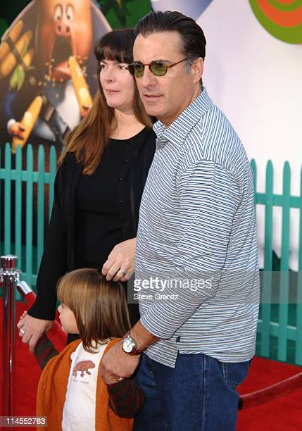 Andy Garcia and Wife during Disney's 'Chicken Little' Los Angeles Premiere Arrivals at El Capitan in Hollywood California United States