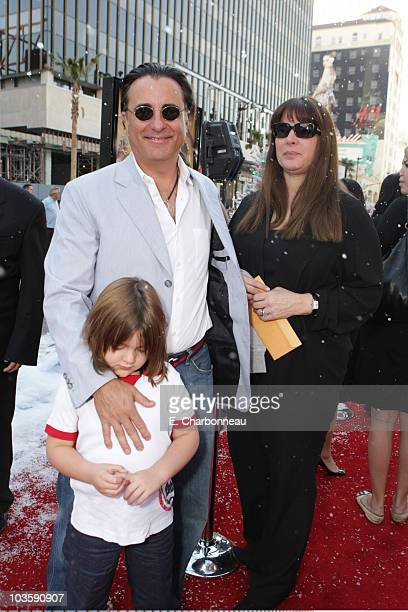 Andy Garcia Andres Garcia and Marivi Lorido Garcia at the Premiere of Warner Bros 'FRED CLAUS' at Grauman's Chinese Theatre on November 3 2007 in Los...